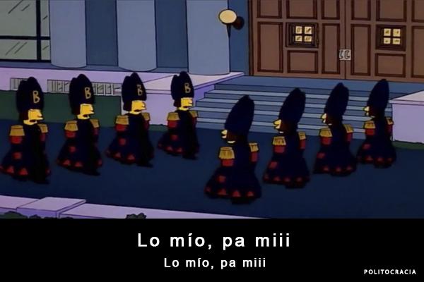 lo mío pa mí, los simpsons