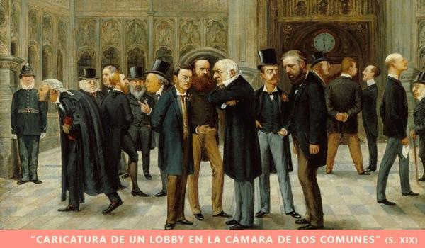 caricatura de un lobby