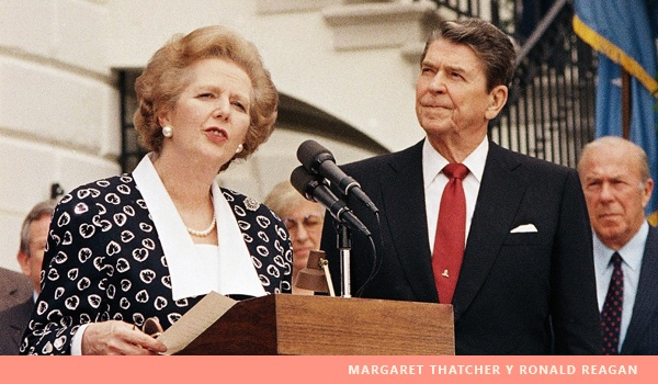 Margaret Thatcher y Ronald Reagan